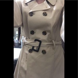 Women's beige/cream trench coat